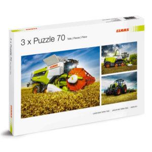 Puzzle 3x70 pièces CLAAS chez JF-AGRI à Schlierbach